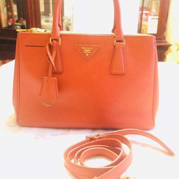 fe84ceab792b7d Prada Bags   Saffiano Leather Handbag   Poshmark
